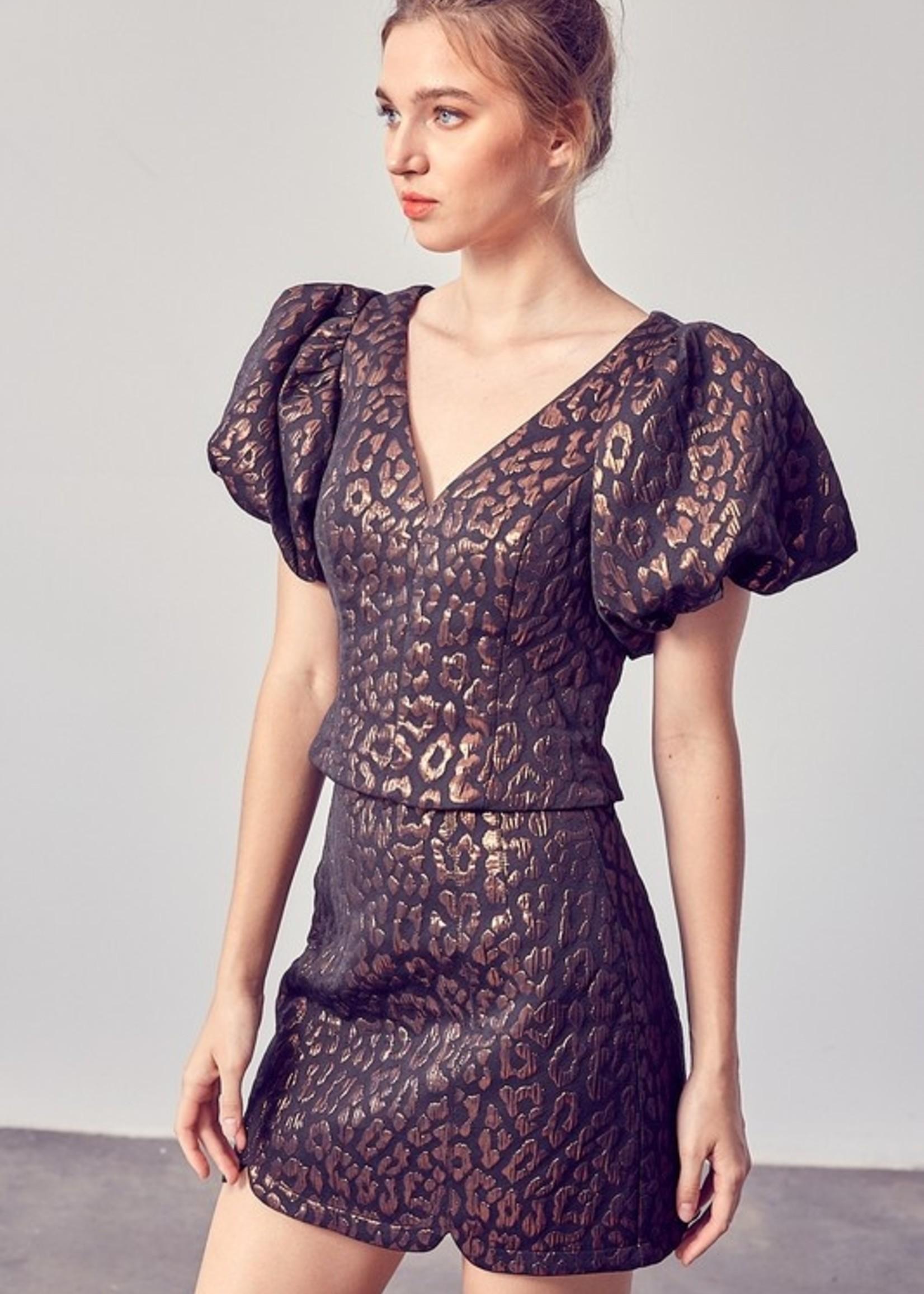 Do+Be Leopard Print Mini Skirt