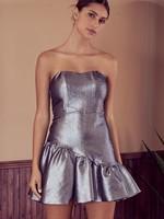 Do+Be Silver Asymmetrical Dress