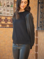 THML Leather Knit Sweater
