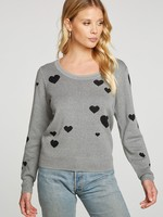 Chaser Intarsia Hearts Sweater