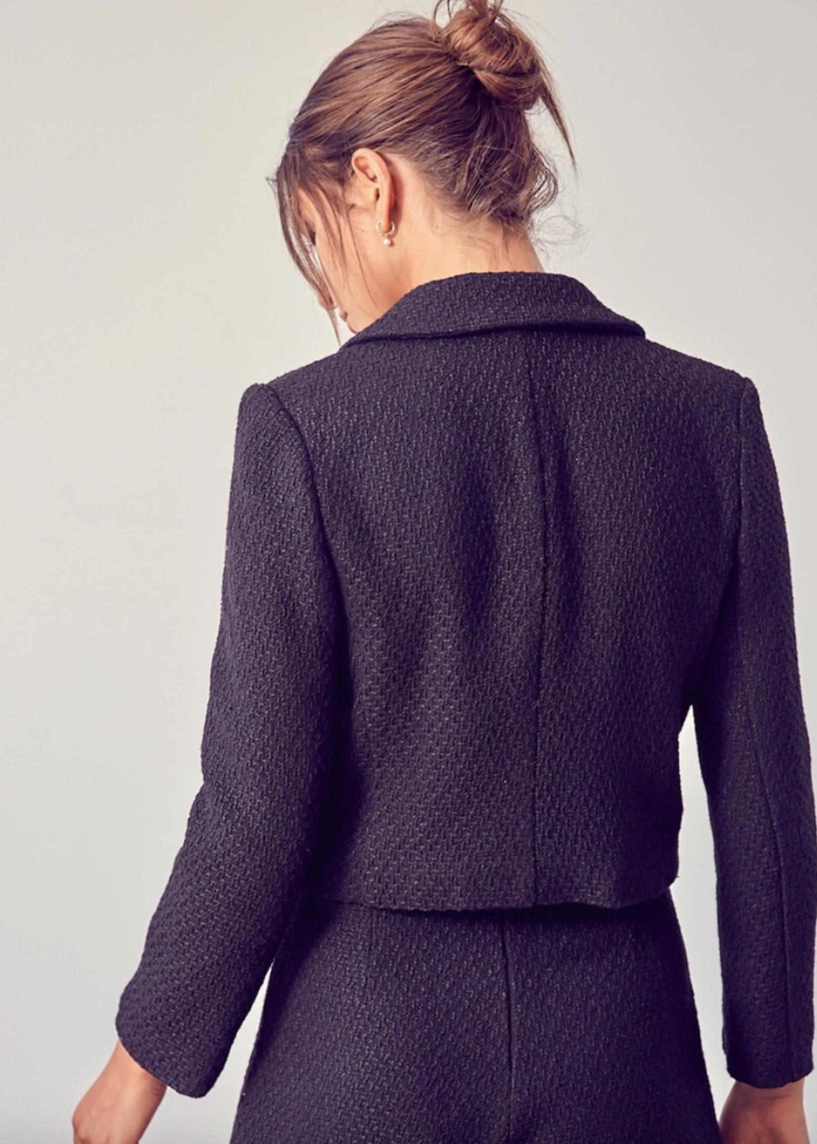 Do+Be Tweed Cropped Blazer