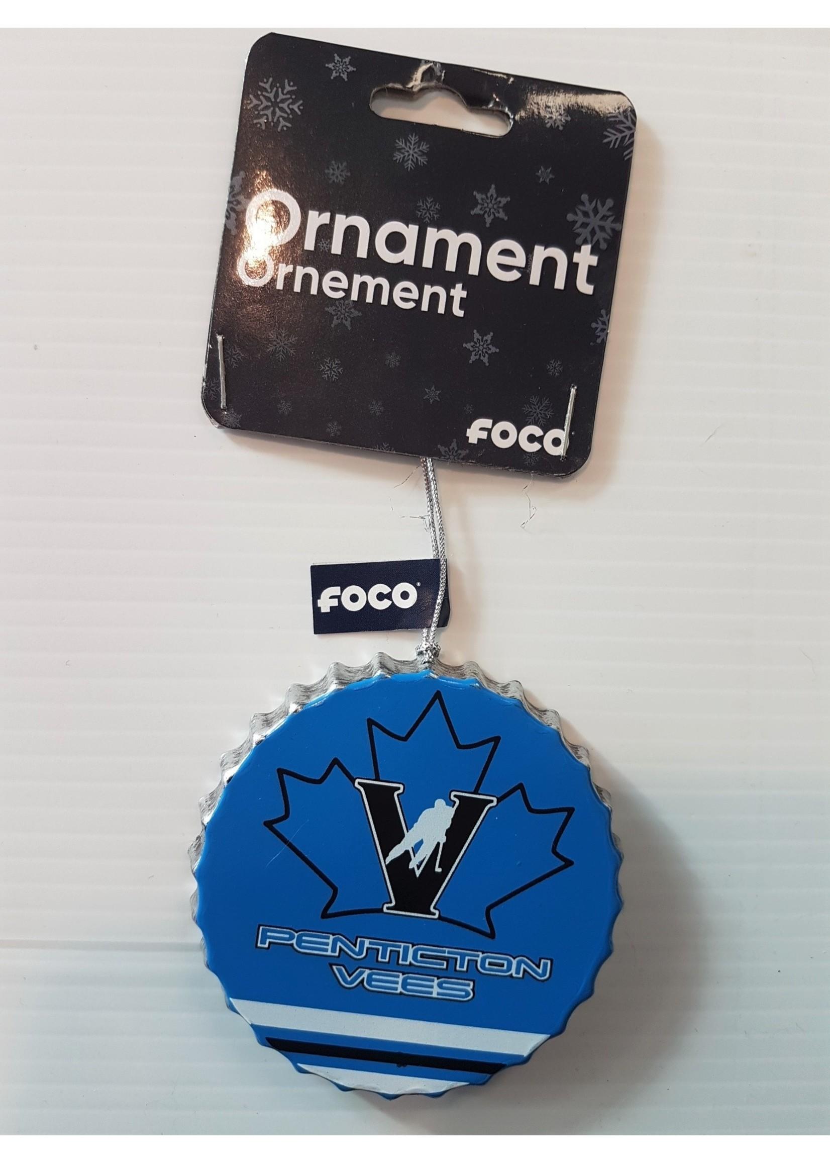 FOCO Penticton Vees Metal Ornament