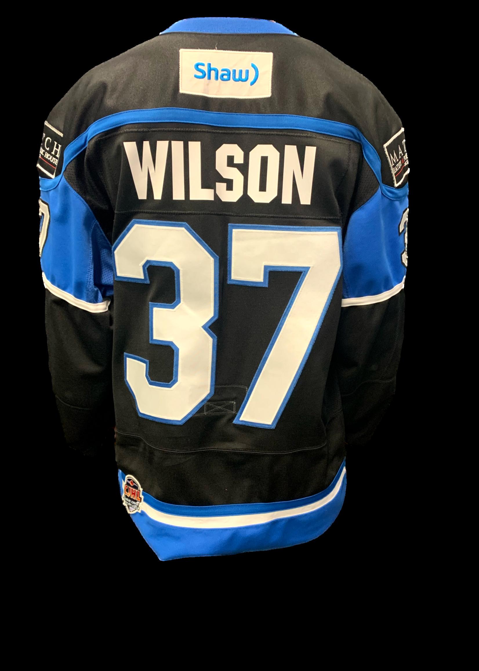 Bauer Wilson Game Worn Jersey - Team Signed