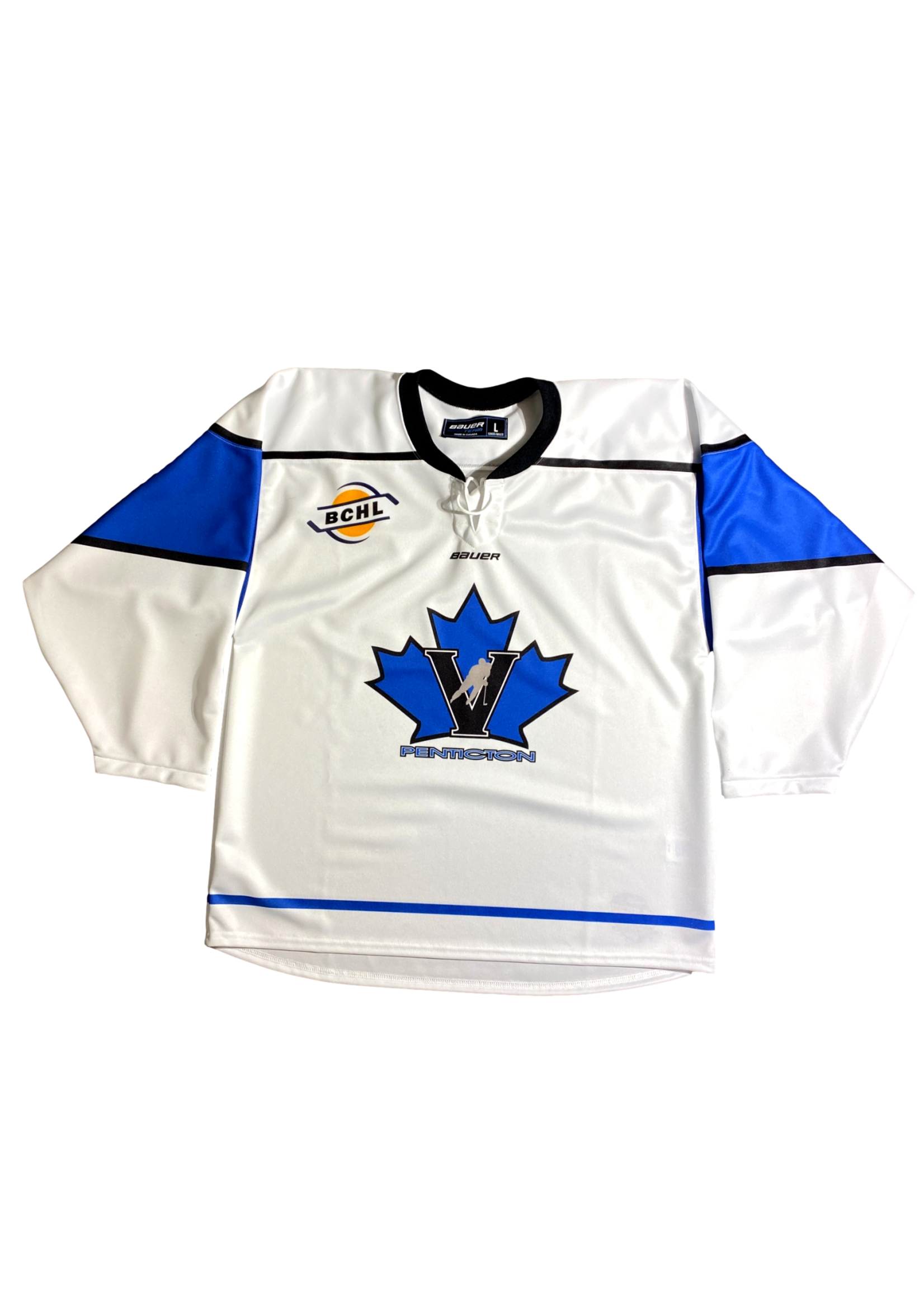 Bauer White Bauer Sublimated  Replica Jersey-Adult