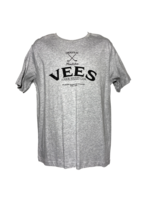 Vees Mens Grey Tee-Black Logo