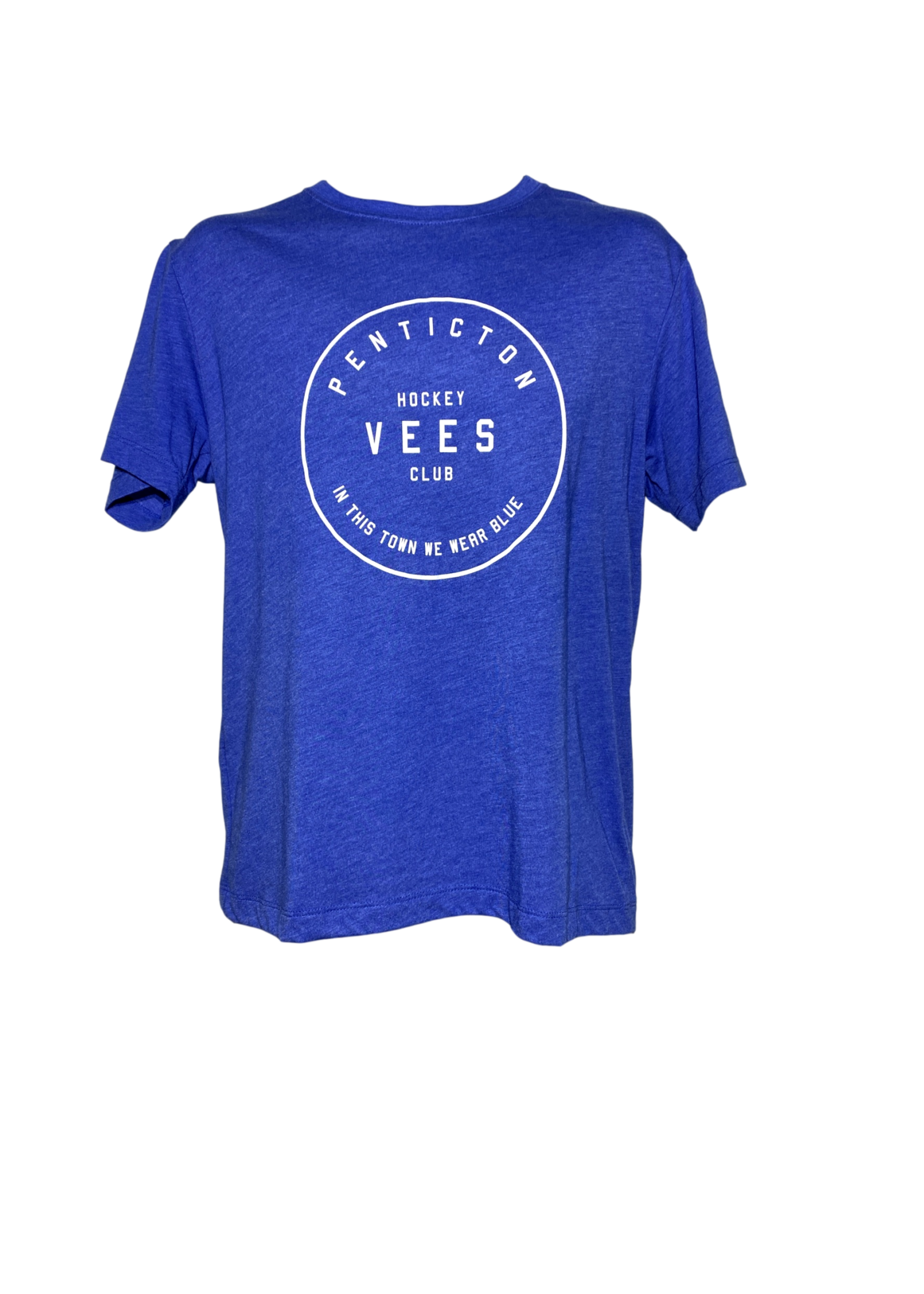 """Omni Apparel Penticton Vees Men's """"In This Town"""" T Shirt-Blue"""