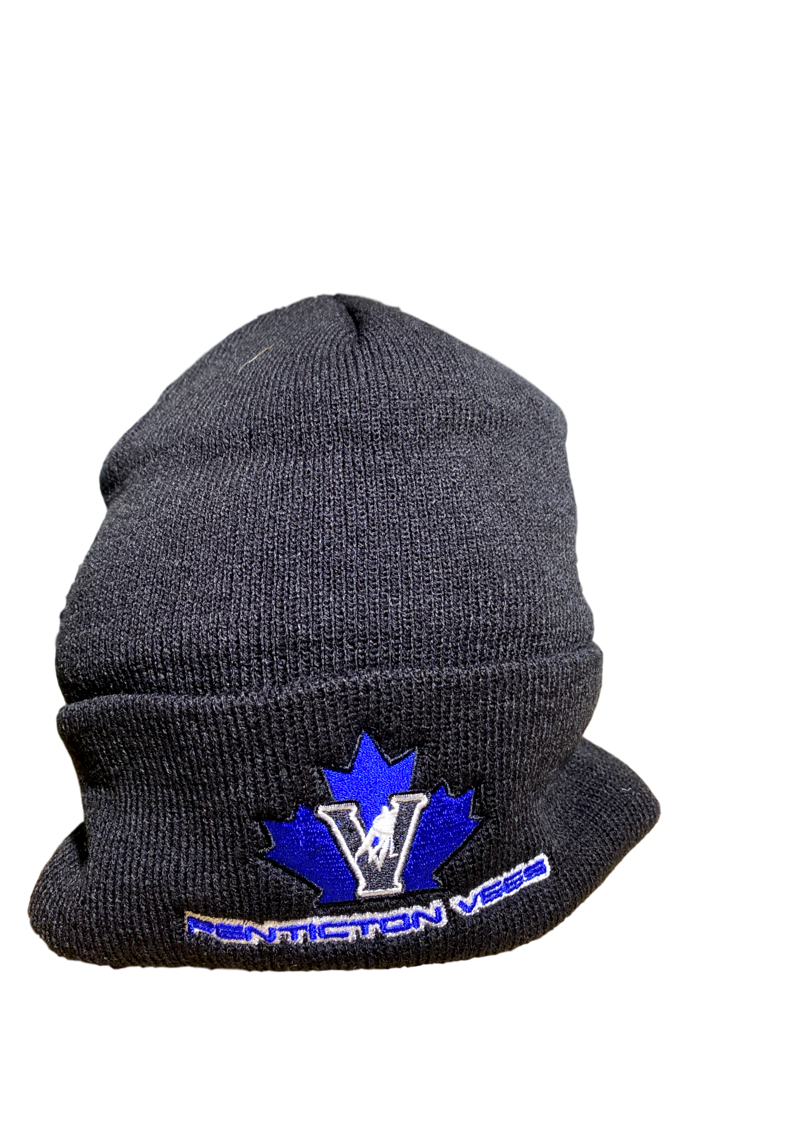 American Needle Vees Black  Beanie Touque-No Brim