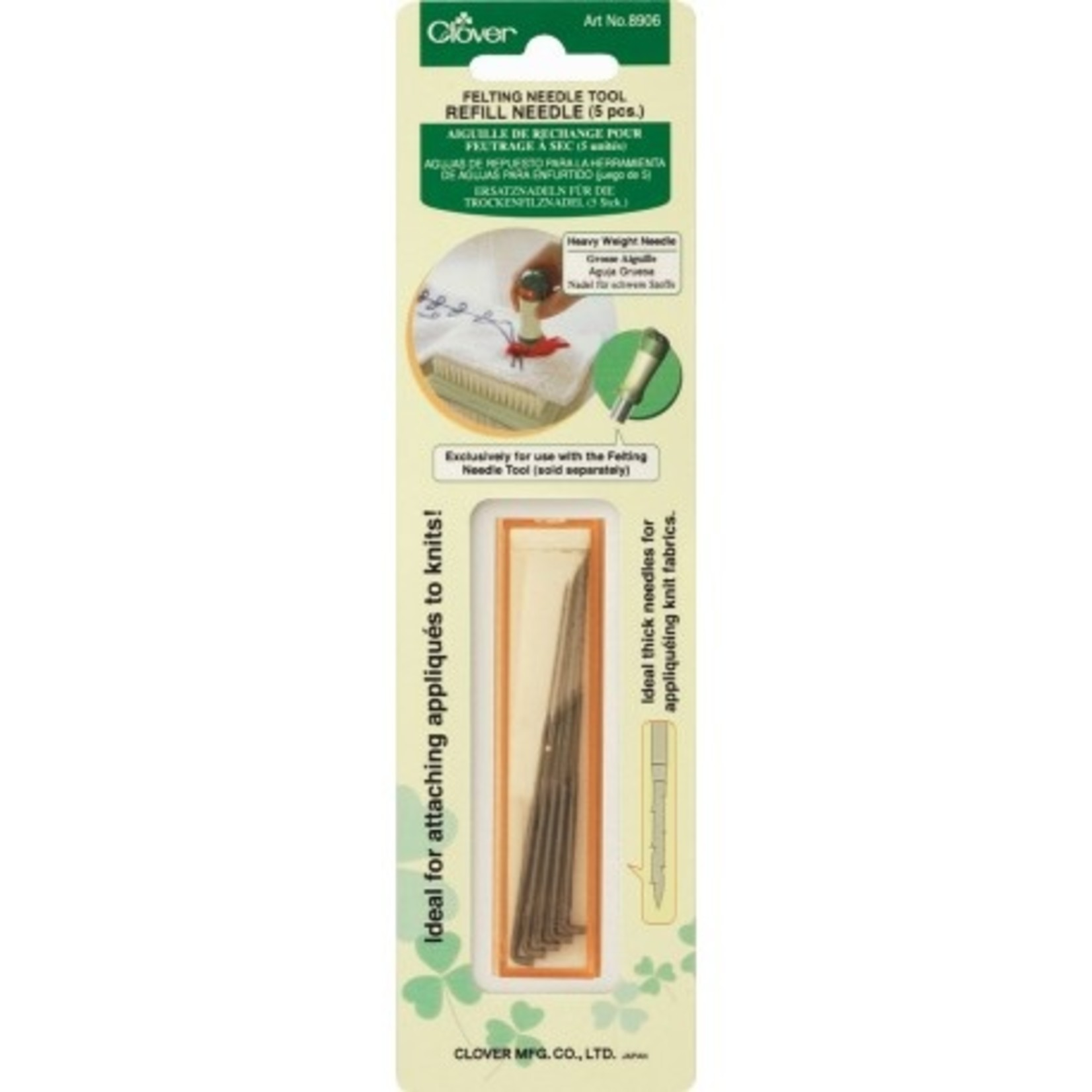 Clover Needle Felting Tool Refill Heavy Weight