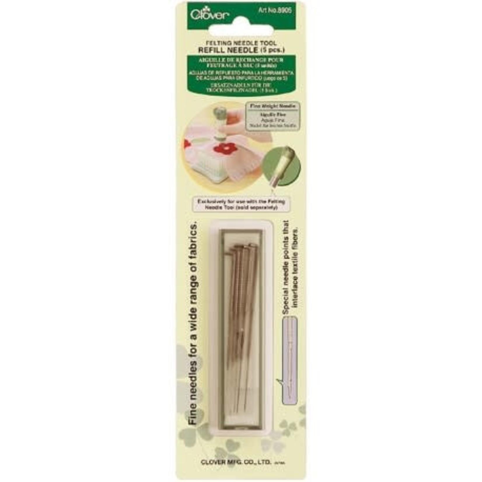 Clover Needle Felting Tool Refill Needle (5ps)