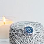 Twill & Print Night Knitter Enamel Pin