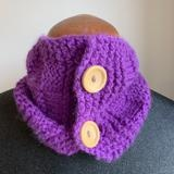 Buttoned Basketweave Cowl