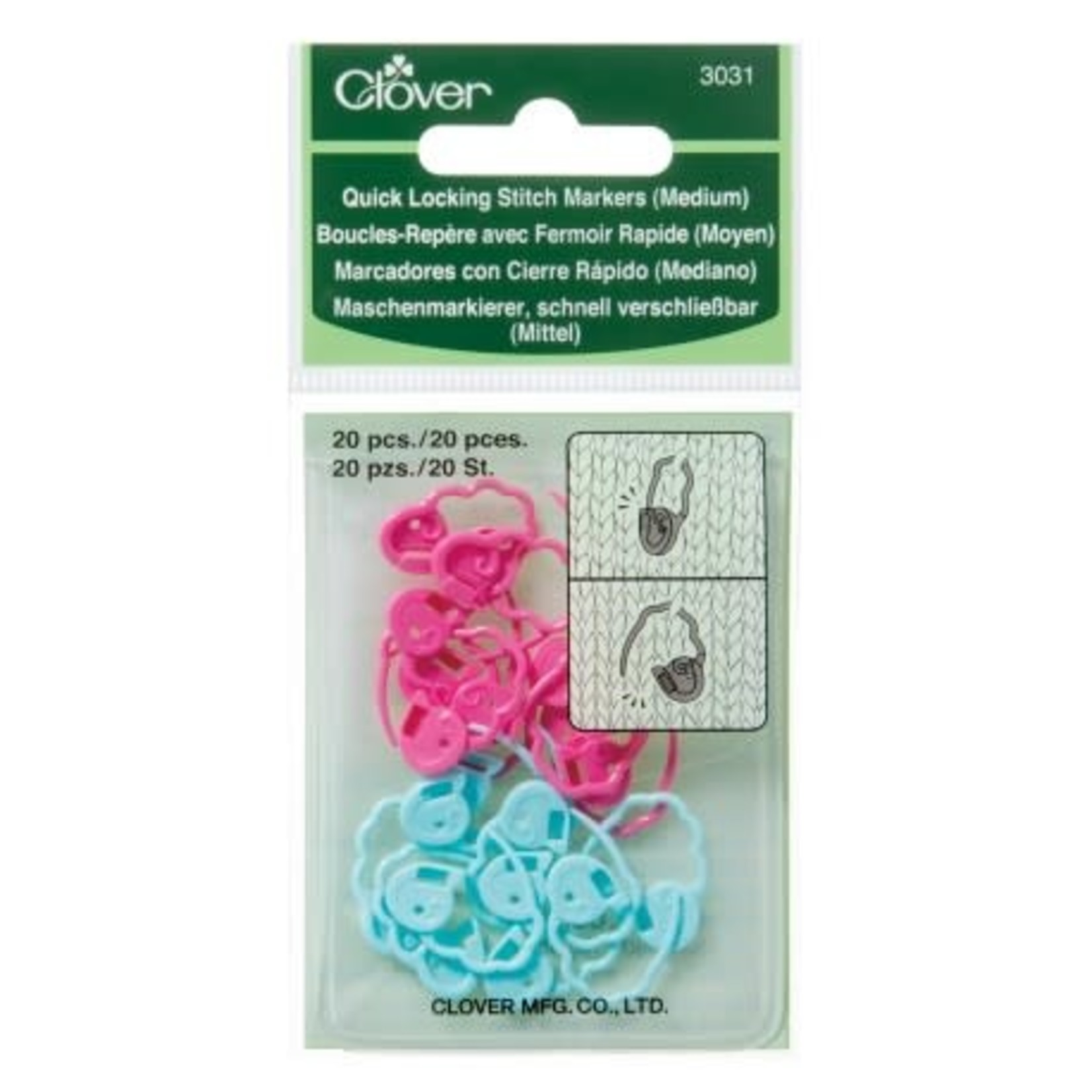 Clover Clover Quick Locking Stitch Markers (Medium)