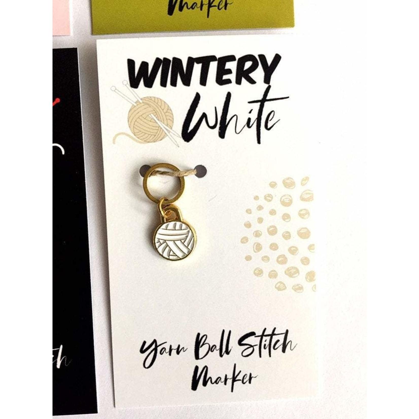 Firefly Notes Yarn Ball Stitch Marker