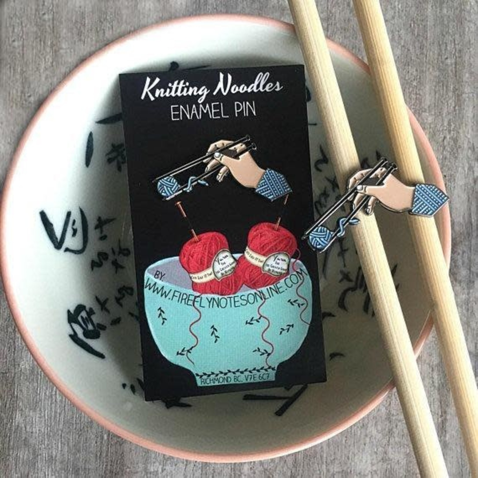 Firefly Notes Knitting Noodles Enamel Pin