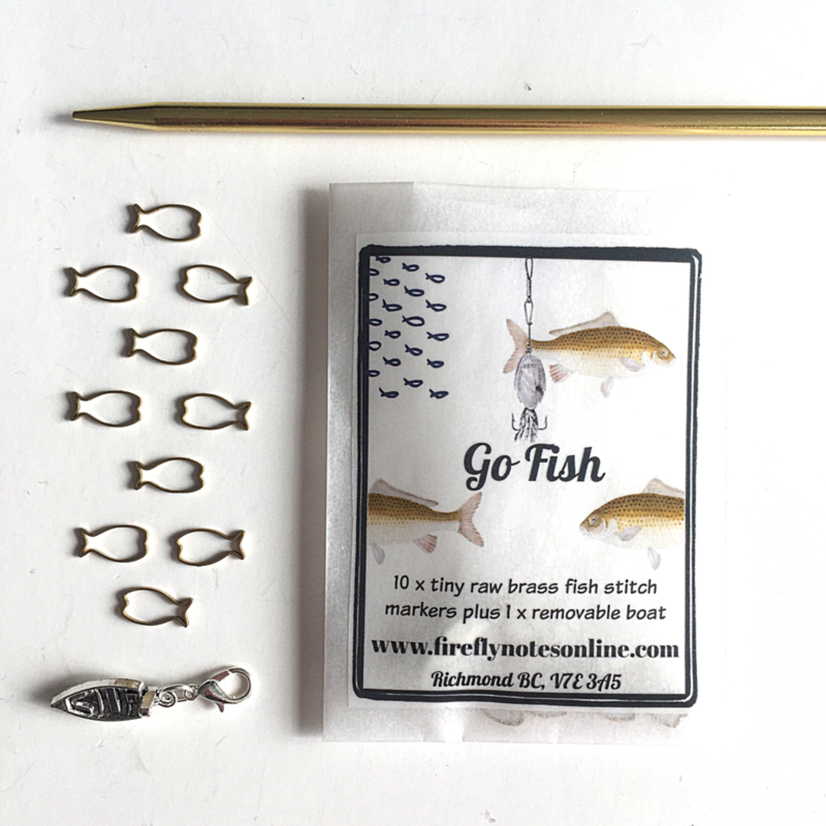 Firefly Notes Go Fish Stitch Markers
