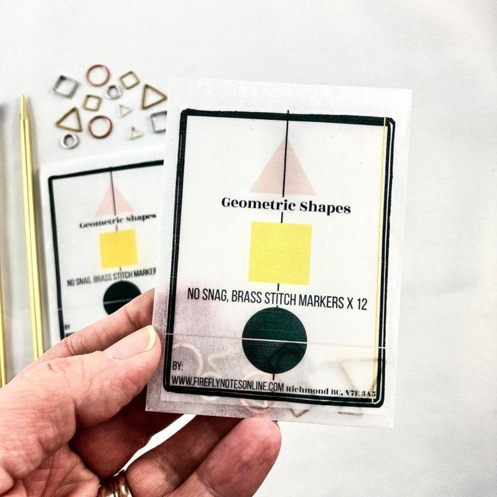 Firefly Notes Geometric Stitch Marker Pack