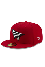 PAPER PLANES BY ROC NATION CRIMSON CROWN FITTED