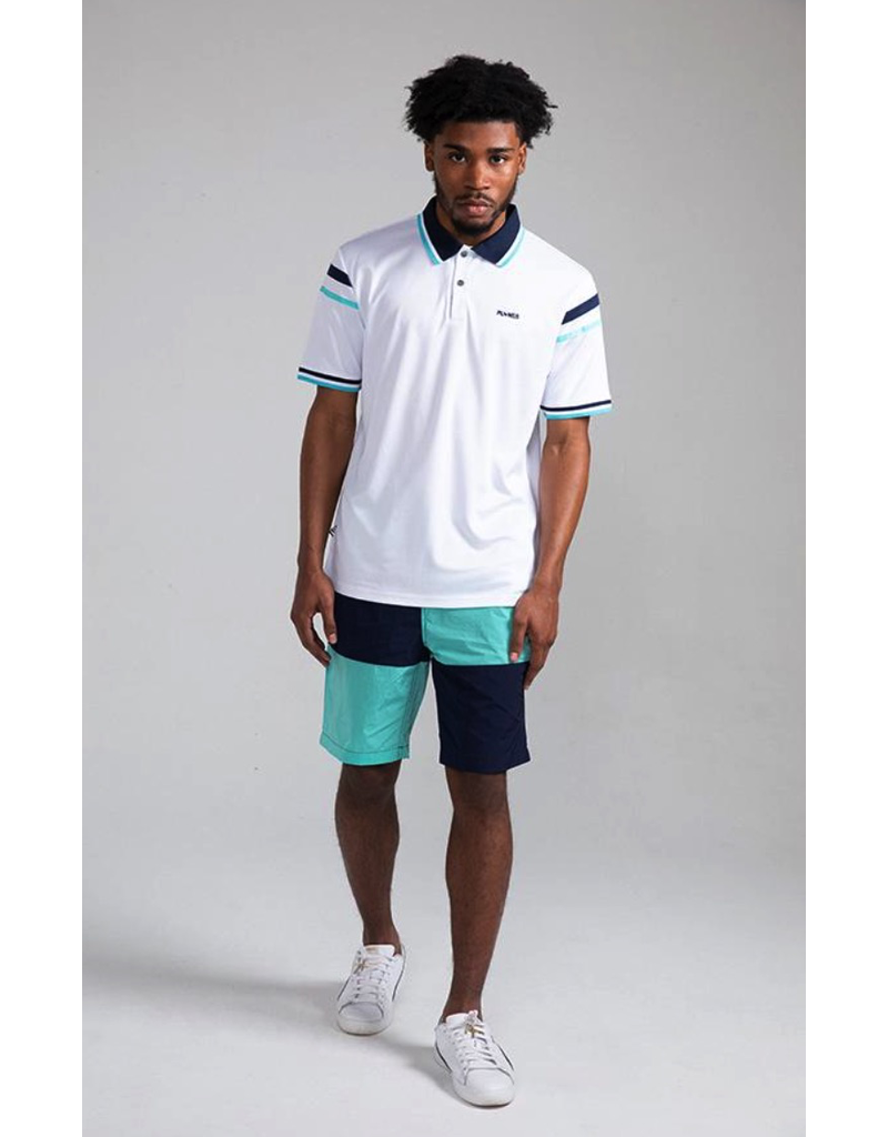 PAPER PLANES Teal Wind Surfer Shorts
