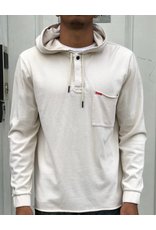 CROOKS & CASTLES FURY HOODED RUGBY TOP