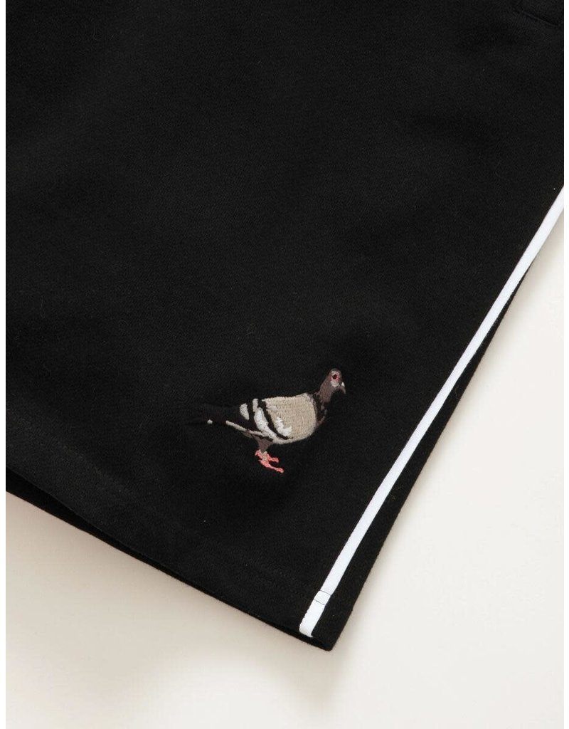 STAPLE BLACK PIPED SWEATSHORT