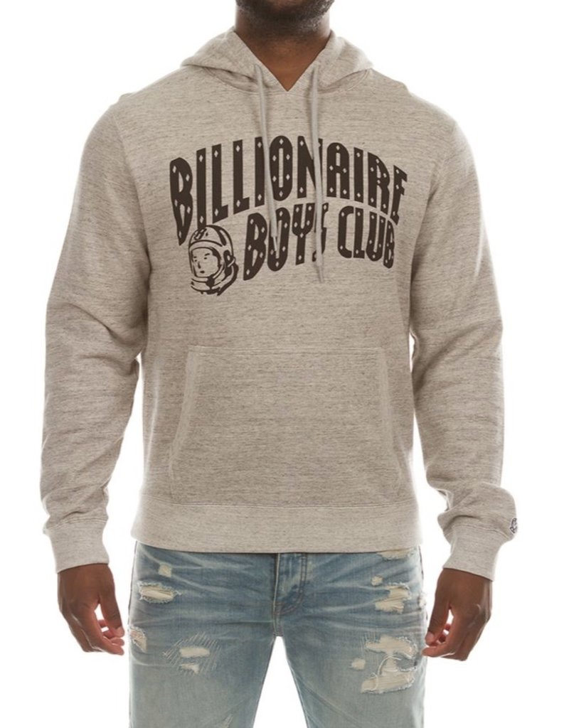 BILLIONAIRE BOYS CLUB HEATHER GREY BB ARCH HOODIE - P-18521