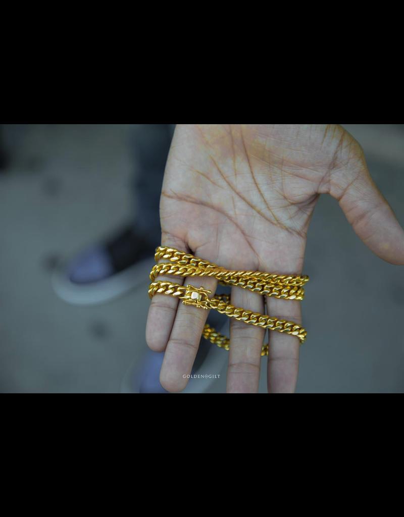 GOLDEN GILT 8MM MIAMI CUBAN