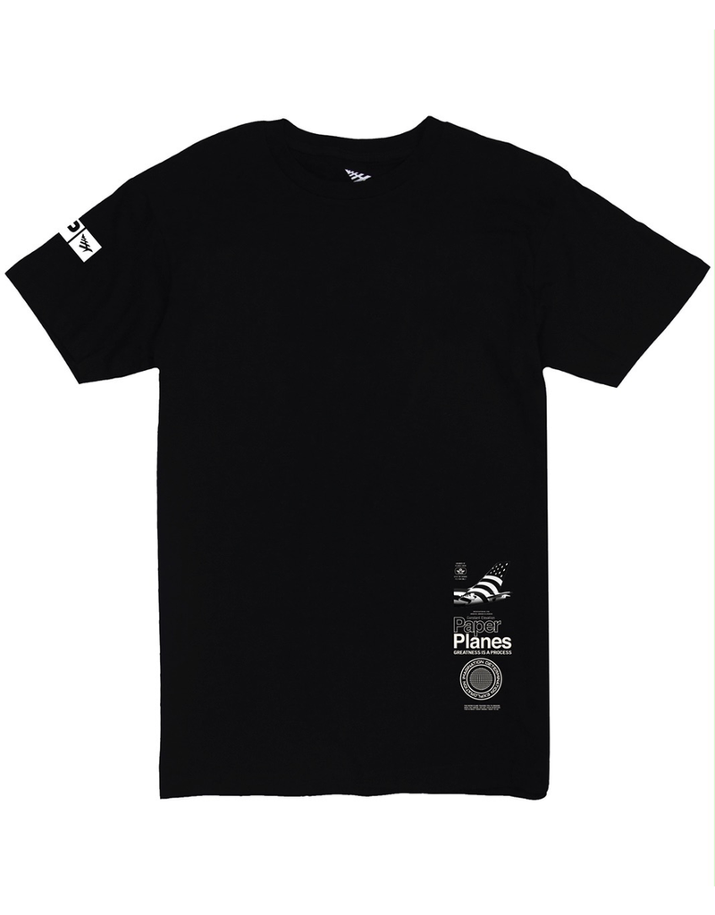 PAPER PLANES BY ROC NATION BLACK WATERFALL TEE
