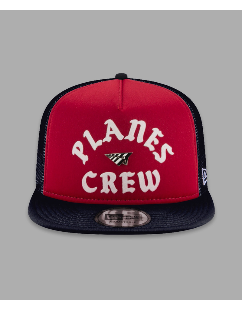 PAPER PLANES BY ROC NATION RED NAVY PLANES CREW TRUCKER TWO TONE OLD SCHOOL SNAPBACK