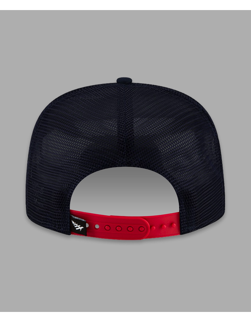 PAPER PLANES RED NAVY PLANES CREW TRUCKER TWO TONE OLD SCHOOL SNAPBACK