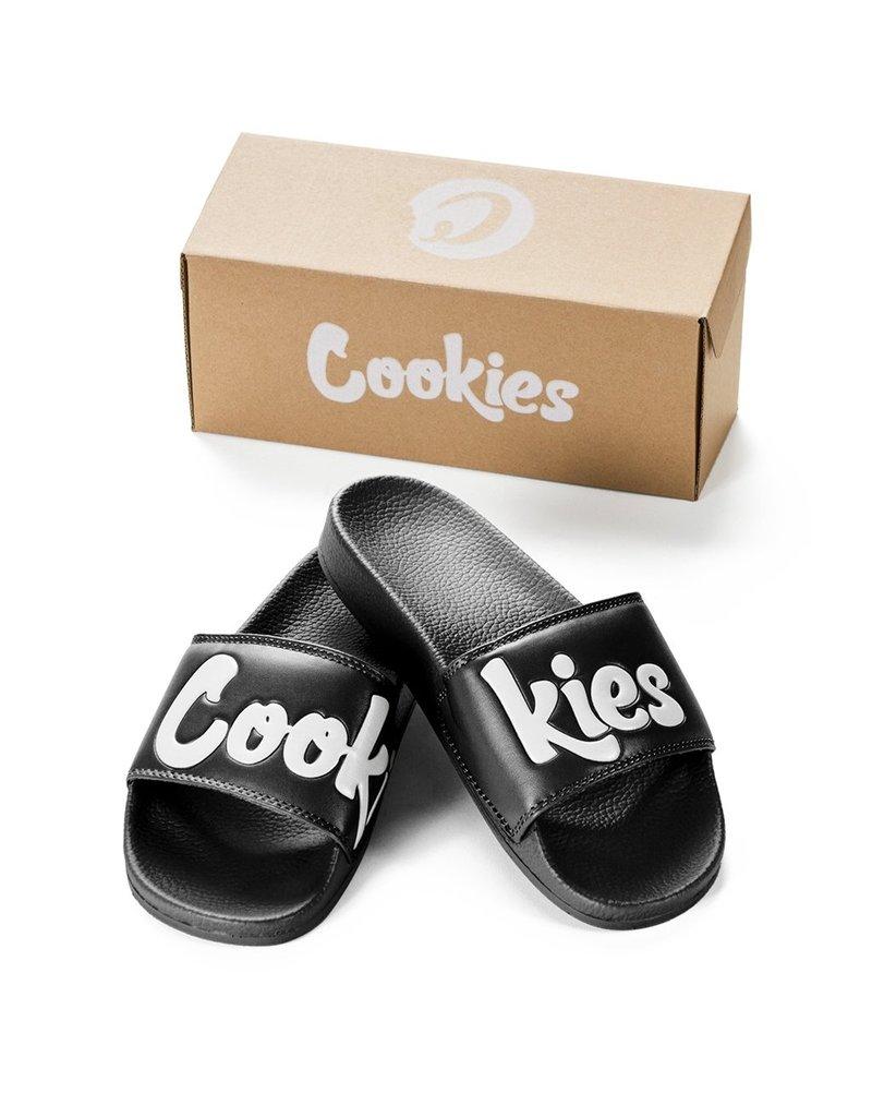 Cookies COOKIES BLACK ORIGINAL MINT LOGO FAUX LEATHER (PU) SLIDES