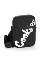 Cookies LAYERS SMELL PROOF HONEYCOMB NYLON SHOULDER BAG W/ PLASTIC ZIPPERS, MESH POCKET OVERLAY & CUSTOM BRANDED STRAP