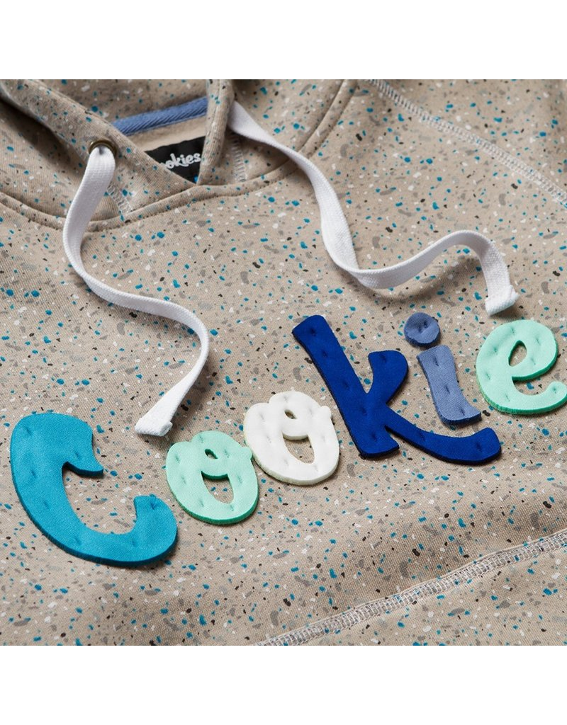 Cookies CHATEAU CUSTOM SPECKLED PULLOVER FLEECE HOODY W/ HAND CUT APPLIQUE LETTERING