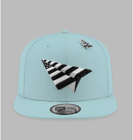 PAPER PLANES BY ROC NATION POWDER BLUE CROWN OLD SCHOOL SNAPBACK