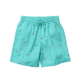 STAPLE TEAL ALL OVER PIGEON NYLON SHORTS