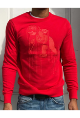 PRPS Red Paint Drip Cherub Pullover