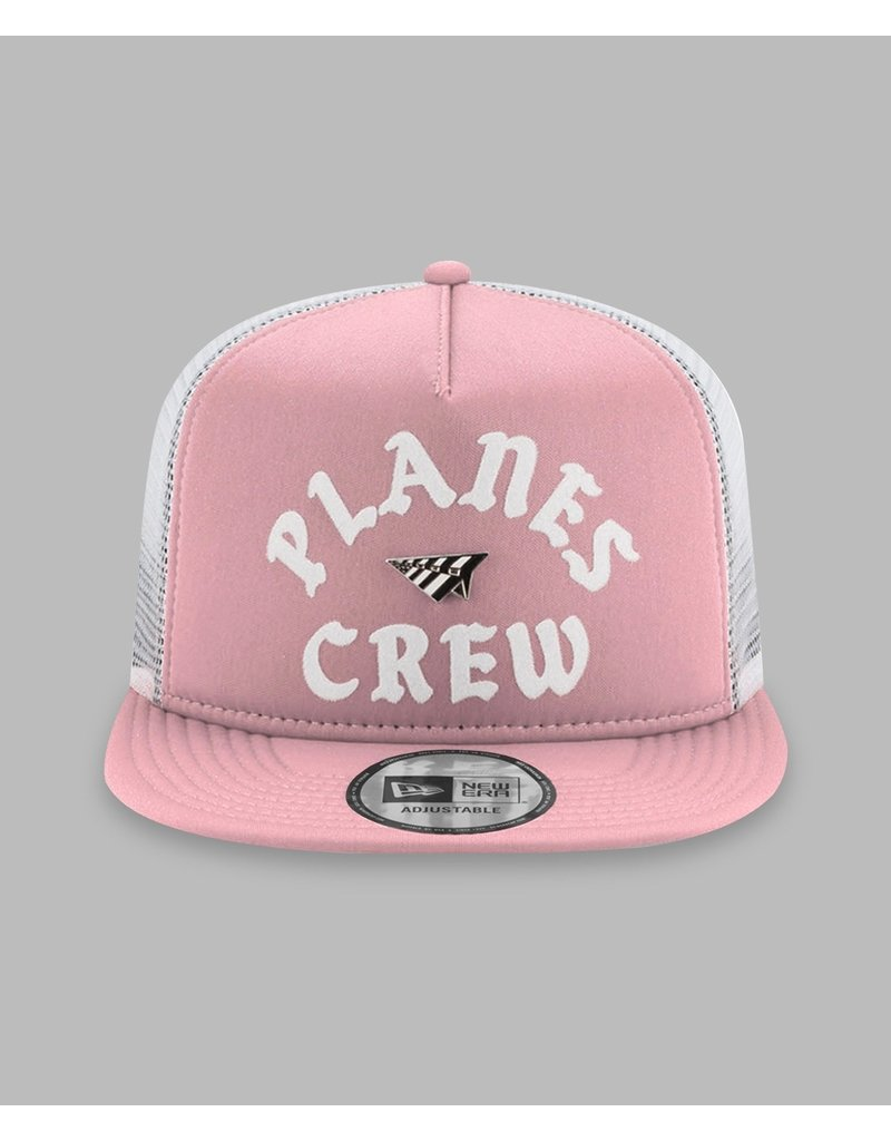 PAPER PLANES WASHED PINK PLANES CREW TRUCKER TWO TONE OLD SCHOOL SNAPBACK