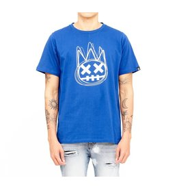 CULT OF INDIVIDUALITY SURF BLUE SHIMUCHAN LOGO SHORT SLEEVE CREW NECK TEE