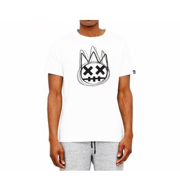 CULT OF INDIVIDUALITY WHITE SHIMUCHAN LOGO SHORT SLEEVE CREW NECK TEE