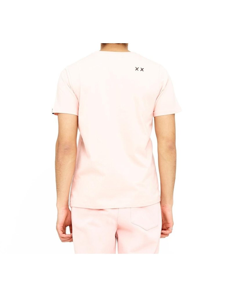 CULT OF INDIVIDUALITY SALM SHIMUCHAN LOGO SHORT SLEEVE CREW NECK T IN SALMON