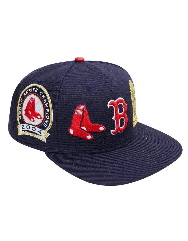 PRO STANDARD BOSTON RED SOX CITY DOUBLE FRONT LOGO SNAPBACK HAT