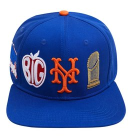 PRO STANDARD NEW YORK METS CITY DOUBLE FRONT LOGO SNAPBACK HAT
