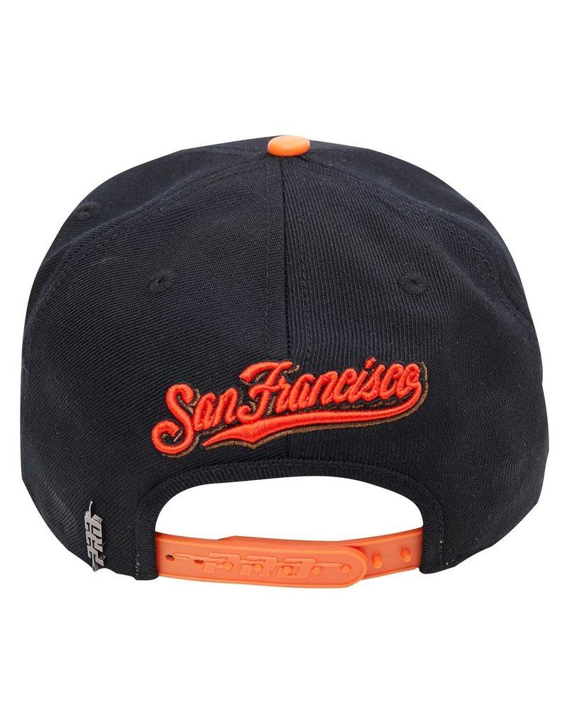 PRO STANDARD SAN FRANCISCO GIANTS CITY DOUBLE FRONT LOGO SNAPBACK HAT