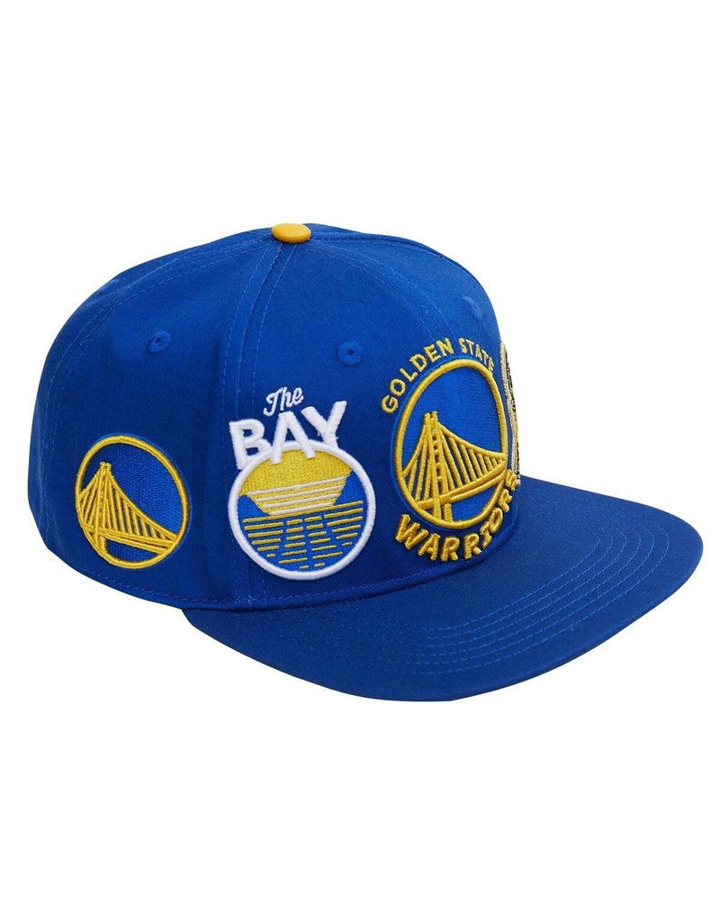 PRO STANDARD GOLDEN STATE WARRIORS CITY DOUBLE FRONT LOGO SNAPBACK HAT