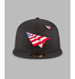 PAPER PLANES BY ROC NATION AMERICAN DREAM BLACK CROWN FITTED