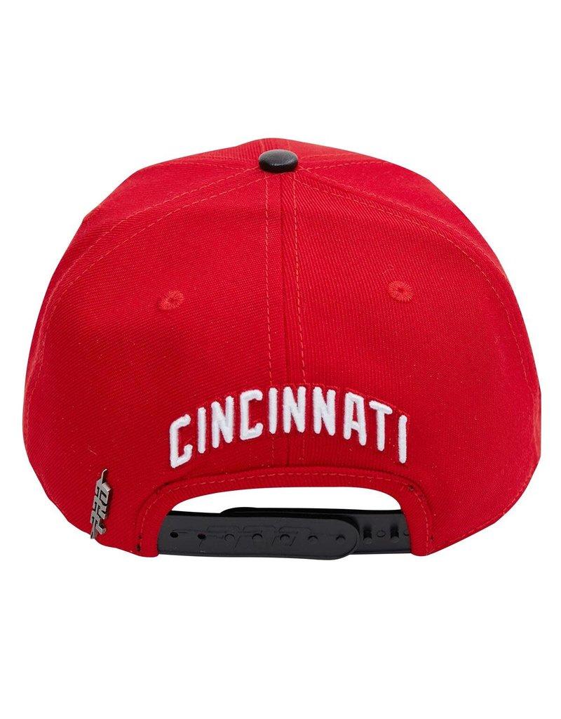 PRO STANDARD CINCINNATI REDS CITY DOUBLE FRONT LOGO SNAPBACK HAT