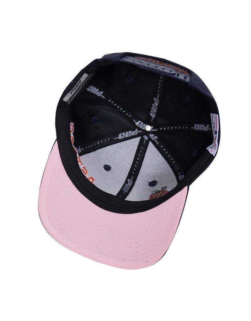 PRO STANDARD HOUSTON ASTROS STRIPES ROSES SNAPBACK HAT