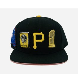 PRO STANDARD PITTSBURGH PIRATES CITY DOUBLE FRONT LOGO SNAPBACK HAT