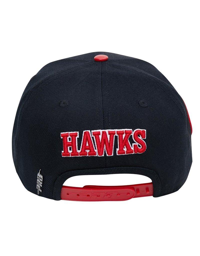 PRO STANDARD ATLANTA HAWKS CITY DOUBLE FRONT LOGO SNAPBACK HAT