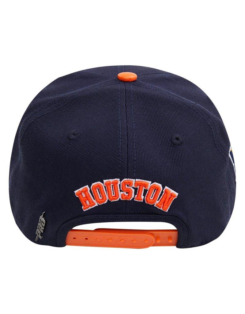 PRO STANDARD HOUSTON ASTROS CITY DOUBLE FRONT LOGO SNAPBACK HAT
