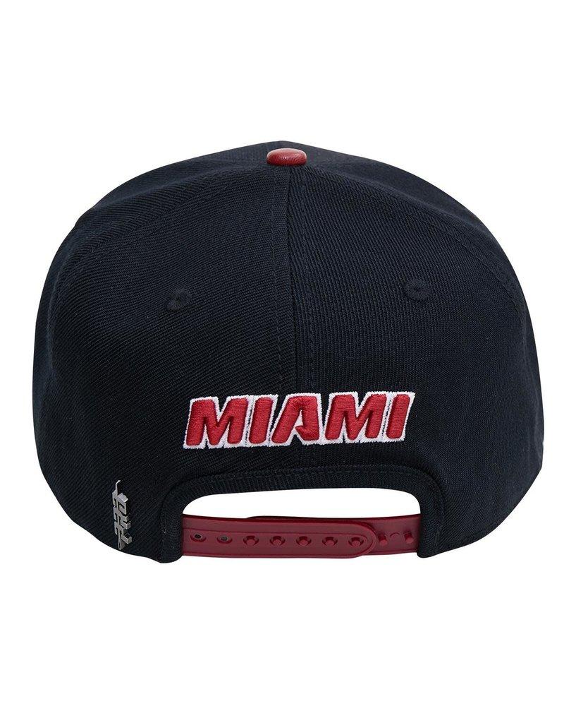 PRO STANDARD MIAMI HEAT CITY DOUBLE FRONT LOGO SNAPBACK HAT